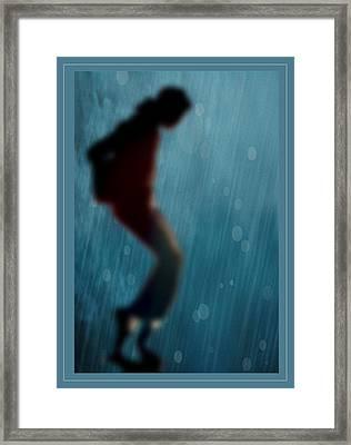 Michael Jackson Shadow Dance Framed Print
