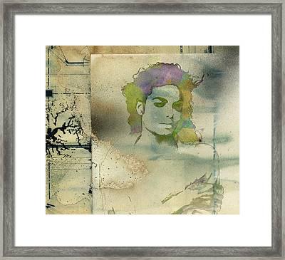 Michael Jackson Silhouette Framed Print