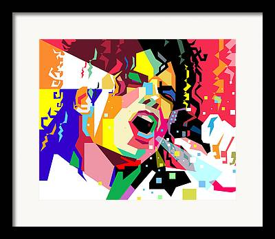 Jacko Digital Art Framed Prints