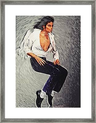 Michael Jackson Framed Print by Taylan Apukovska