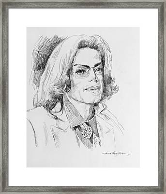 Michael Jackson This Is It Framed Print by David Lloyd Glover