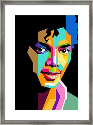 Michael Jackson Young Framed Print