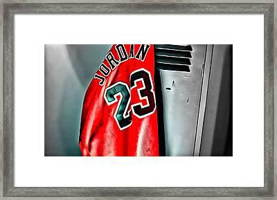 Michael Jordan 23 Shirt Framed Print