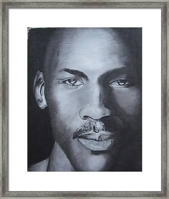 Michael Jordan Framed Print by Aaron Balderas