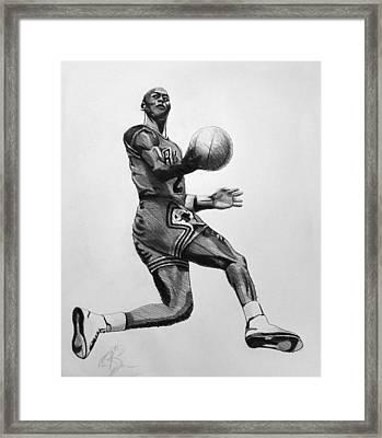 Michael Jordan Framed Print by Adam Barone