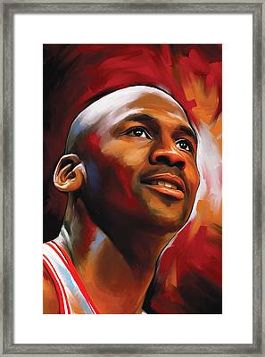 Michael Jordan Artwork 2 Framed Print by Sheraz A