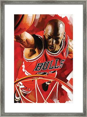 Michael Jordan Artwork 3 Framed Print by Sheraz A