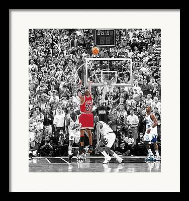 Chicago Bulls Mixed Media Framed Prints