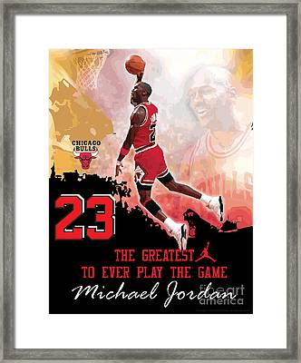 Michael Jordan Greatest Ever Framed Print