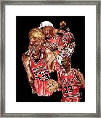 Michael Jordan Framed Print by Israel Torres