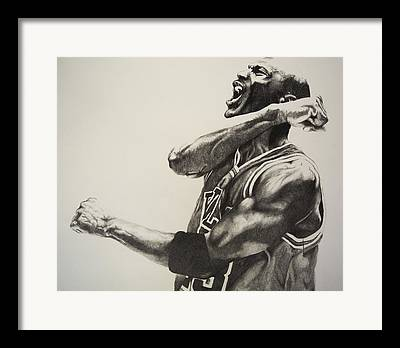 Michael Jordan Drawing Framed Prints