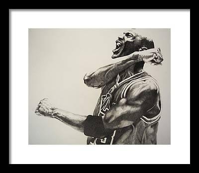 Sport Drawings Framed Prints