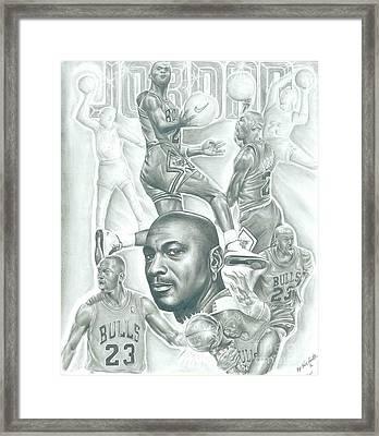 Michael Jordan Framed Print by Kobe Carter