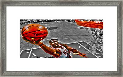 Michael Jordan Lift Off II Framed Print by Brian Reaves