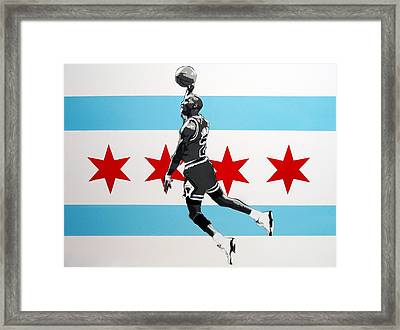 Michael Jordan  Framed Print by Mark  Burns