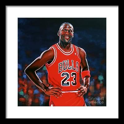 Michael Jordan Framed Prints