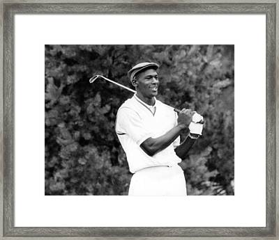 Michael Jordan Playing Golf Framed Print