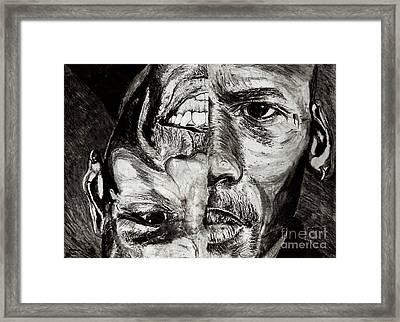 Michael Jordan  Reversible Game Faces Framed Print