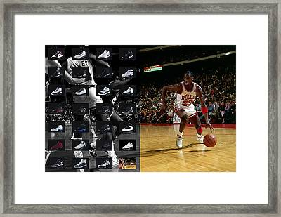Michael Jordan Shoes Framed Print