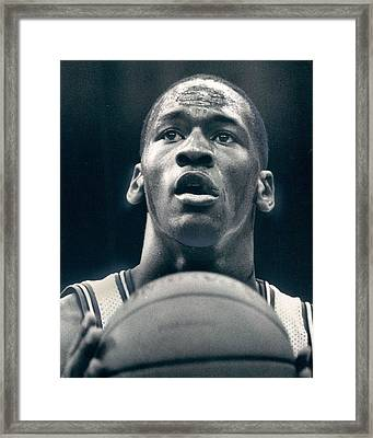 Michael Jordan Shots Free Throw Framed Print