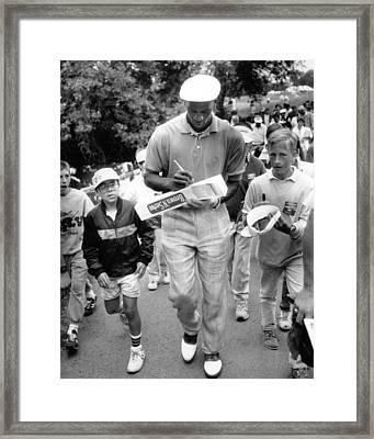 Michael Jordan Signing Autographs Framed Print