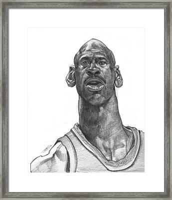 Michael Jordan Framed Print by Sri Priyatham
