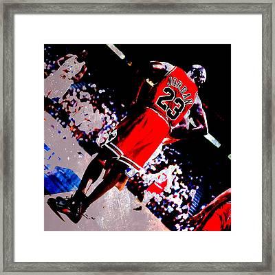 Michael Jordan Standing Tall Framed Print