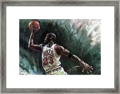 Michael Jordan Framed Print by Ylli Haruni