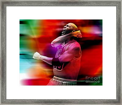 Michael Jordon Framed Print by Marvin Blaine