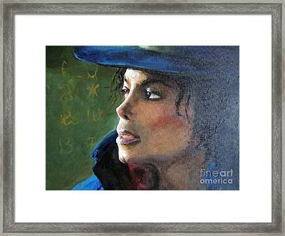 Michael Joseph Jackson Framed Print by Jieming Wang