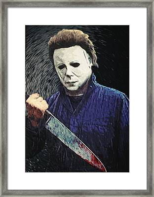 Michael Myers  Framed Print by Taylan Apukovska