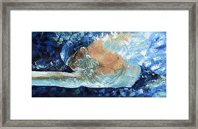 Michael Phelps Framed Print by Ash Hussein