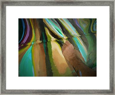 Michael Richard Rosenblatt Paints I Framed Print by Carolina Liechtenstein