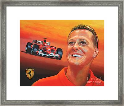 Michael Schumacher 2 Framed Print by Paul Meijering