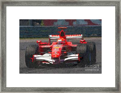 Michael Schumacher Canadian Grand Prix I Framed Print by Clarence Holmes
