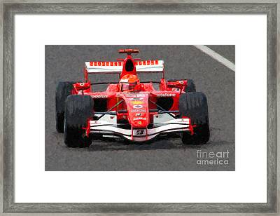 Michael Schumacher Canadian Grand Prix II Framed Print by Clarence Holmes