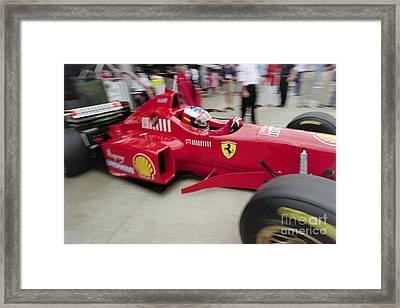 Michael Schumacher Ferrari F310 Framed Print by Gary Doak