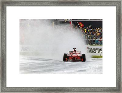 Michael Schumacher Rainmaster Framed Print by Gary Doak