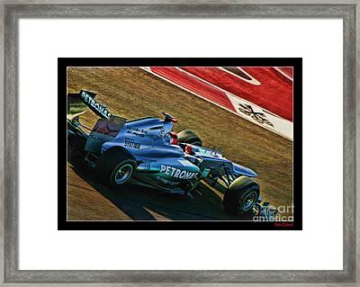 Michael Schumacher Silver Arrows Framed Print by Blake Richards
