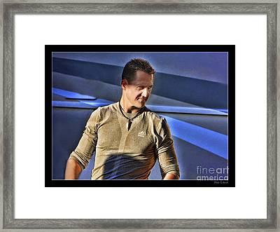 Michael Schumacher The Star Framed Print by Blake Richards