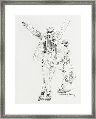 Michael Smooth Criminal Framed Print by David Lloyd Glover