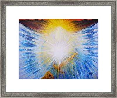 Michael -the Vision - Michael Archangel Series By Yesi Casanova Framed Print