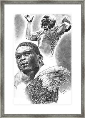 Michael Vick Framed Print by Jonathan Tooley