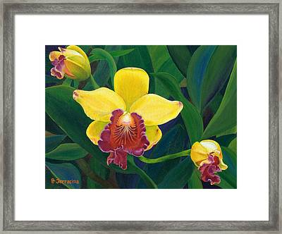 Michaela's Yellow Budda Framed Print
