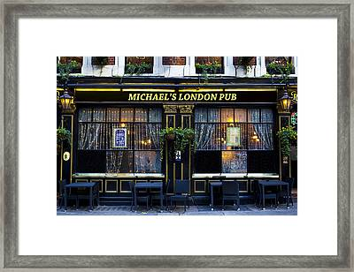Michael's London Pub Framed Print by David Pyatt