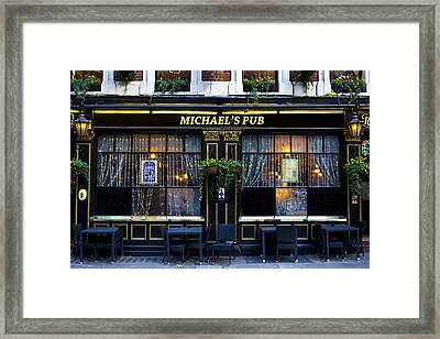 Michaels''s Pub Framed Print by David Pyatt