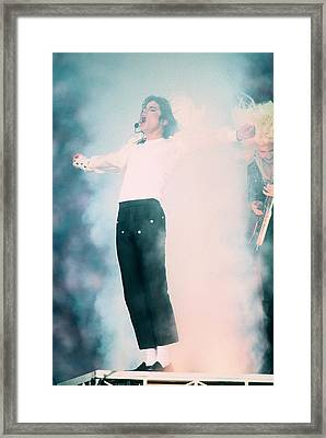 Micheal Jackson Performing On Stage Framed Print by Retro Images Archive