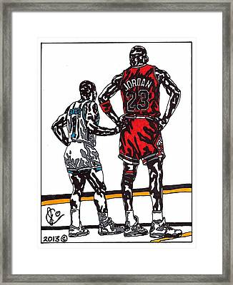 Micheal Jordan 1 Framed Print by Jeremiah Colley