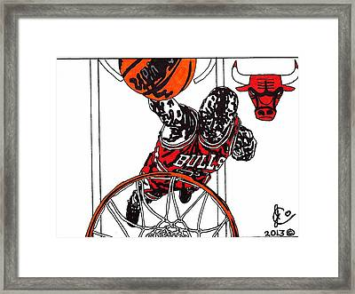 Micheal Jordan 2 Framed Print by Jeremiah Colley