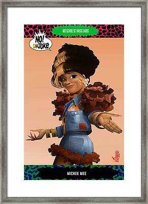 Michee Mee Ntv Card Framed Print